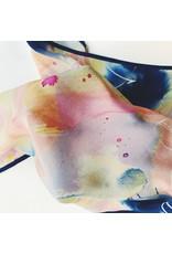 Crepe De Chine Scarf 62 x 62cm Flow Pastels