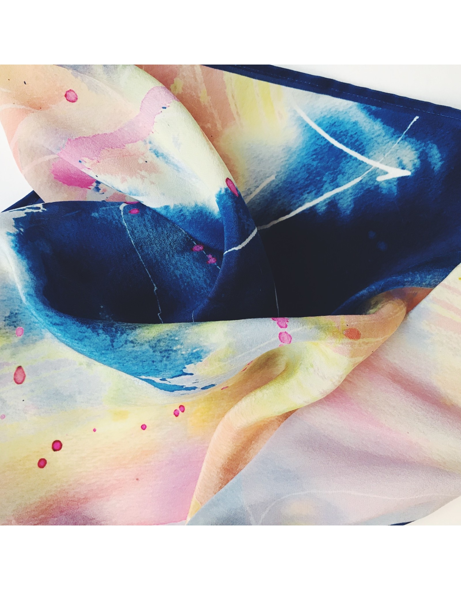 Abstract Silk Scarf - Flow