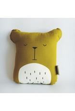 Organic Cotton Bear Cushion