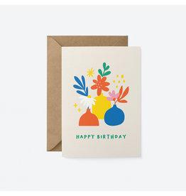Happy Birthday Card Vases & Flowers