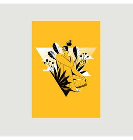 Woman in Yellow A3 Print