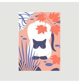 Autumn Cat Loaf A3 Print
