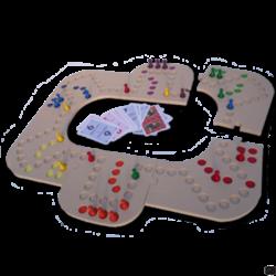 Keezbord 4-6 Personen Hout - Keezen bordspel