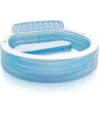 Intex Opblaasbaar zwembad met bankje