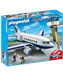 Playmobil Vracht- en Passagiersvliegtuig met Verkeerstoren - 5261