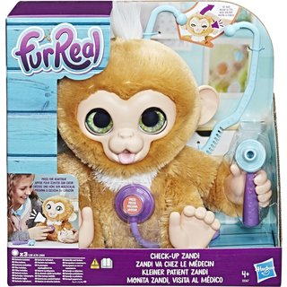 FurReal Zandi Het Zieke Aapje - Interactieve Knuffel