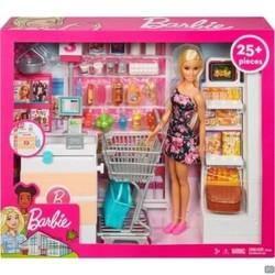 Barbie Supermarkt incl. winkelwagen en Barbiepop