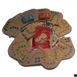 Keezbord Totaalbox Hout 8 personen - Keezenspel