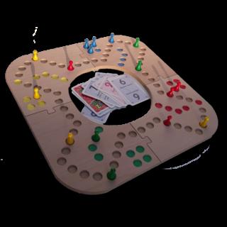 Keezbord 4 persoons houten en tokkenspel - Keezenspel