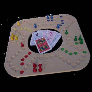 Keezbord 4 persoons kunststof en Tokkenspel - Keezenspel