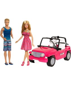Barbie Auto met Ken & Barbie