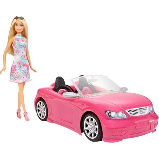 Barbie Cabriolet met Barbiepop