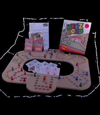 Keezbord 4-6 Personen Hout en Tokkenspel - Keezen bordspel