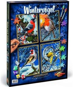 Schilderen op Nummer - Winter Vogels