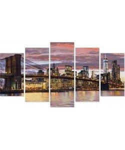 Schilderen op Nummer -  New York in de Ochtendschemering