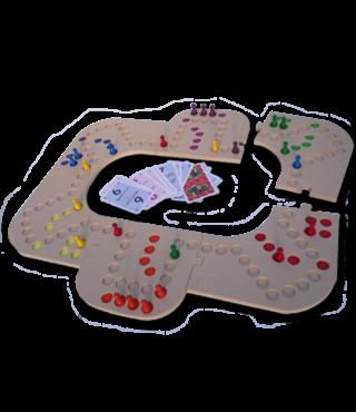 Keezbord 4-6 Personen Kunststof en Tokkenspel - Keezen bordspel