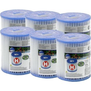 Intex Zwembad Filtercartridge Type H - 29007 - 6 stuks