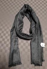 Sjaal antraciet/zilver halfdik