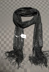 Sjaal zwart/zilver fijn