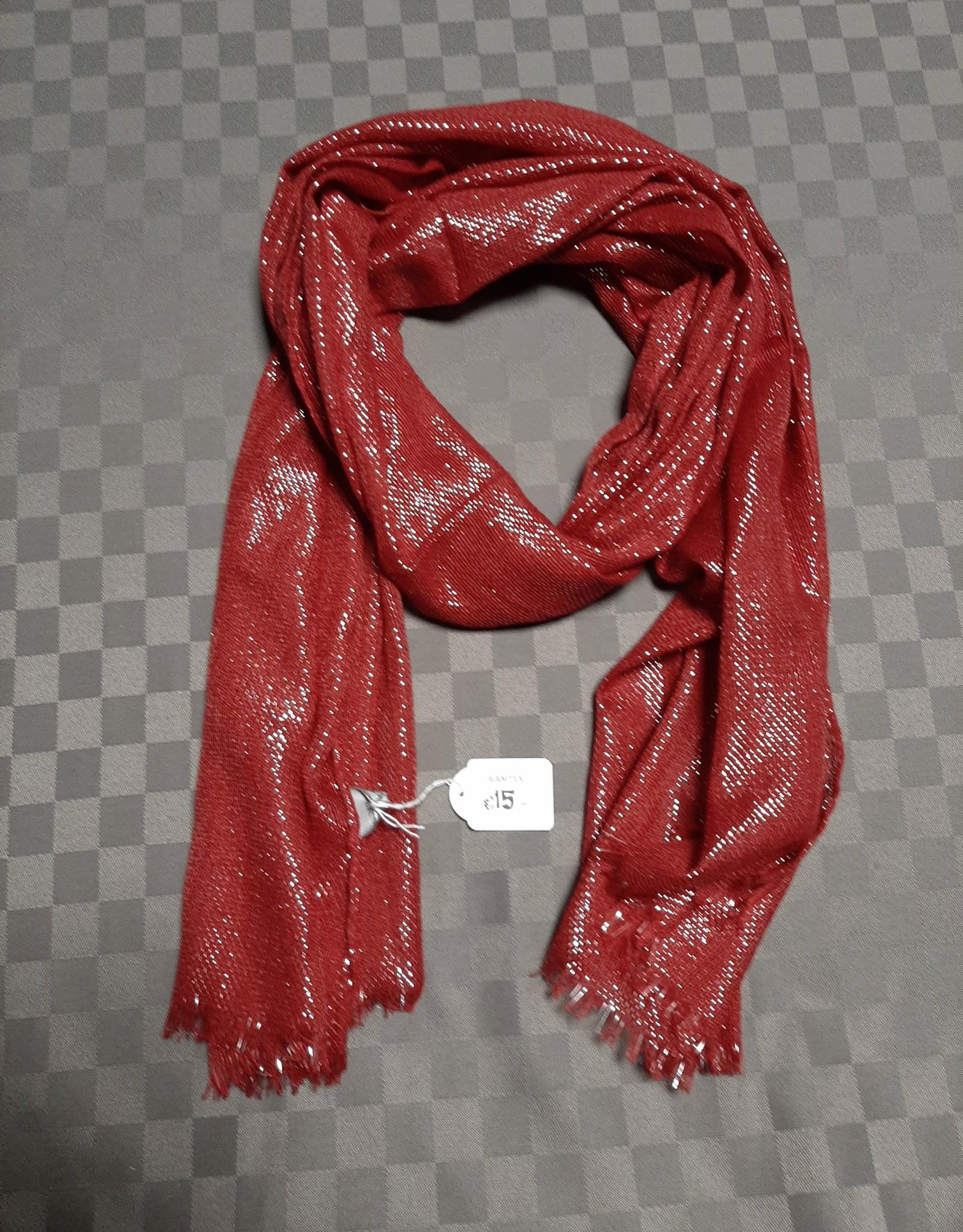 Sjaal bordeaux/zilver