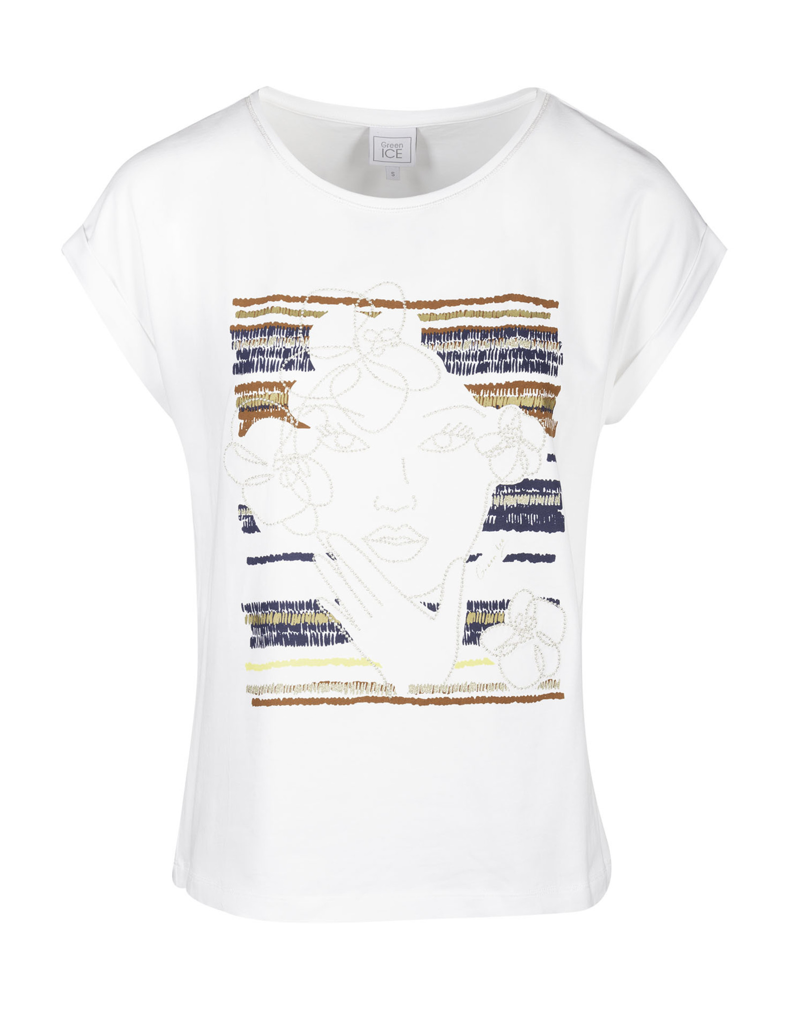 Green ICE T-shirt Clemma White