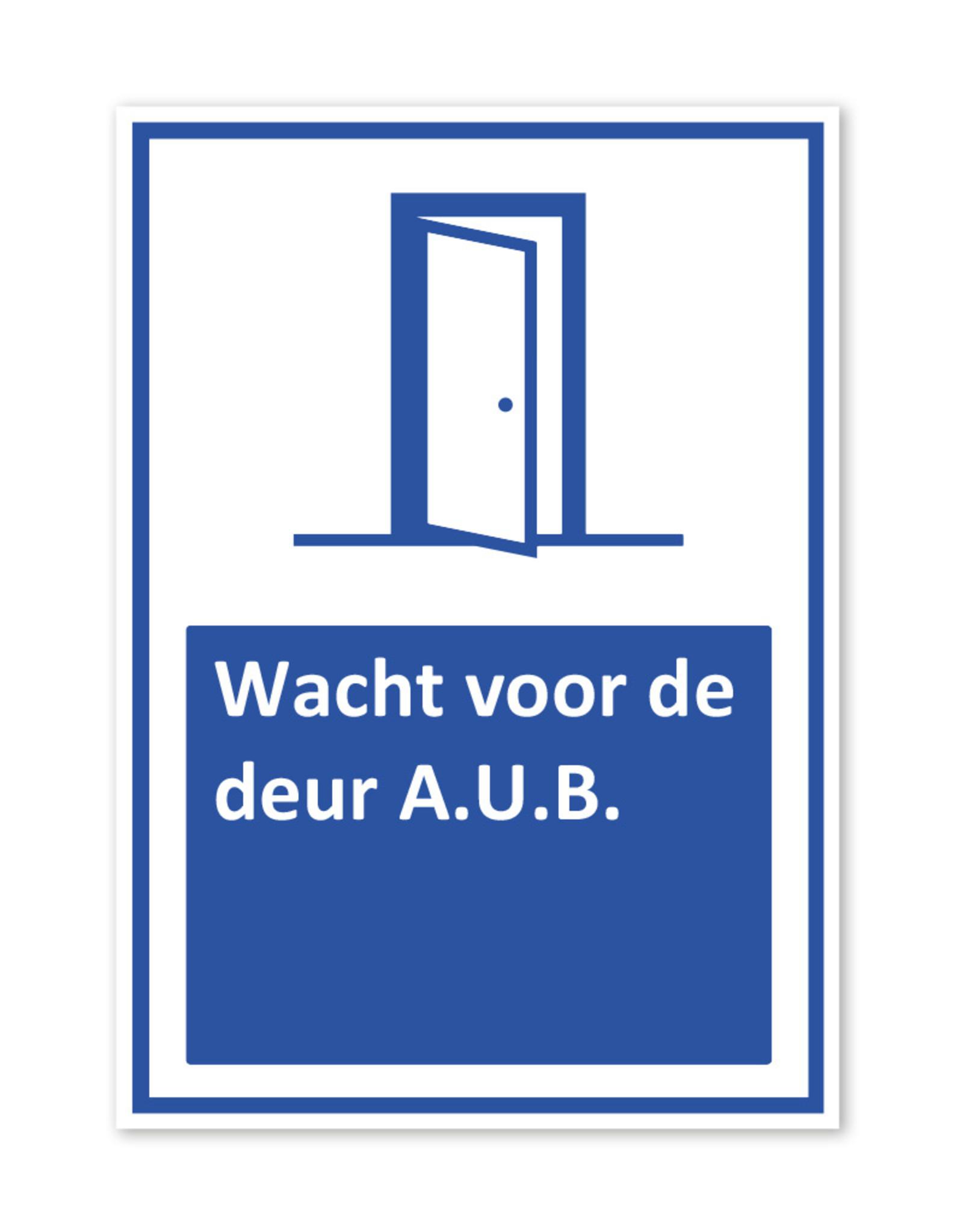 Sticker - Wacht voor de deur