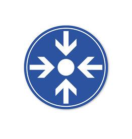 Vloersticker - Binnen - Rond - Trefpunt