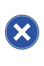 Vloersticker - Binnen - Rond - Kruis
