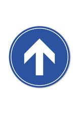 Vloersticker - Binnen - Rond - Pijl