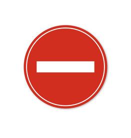 Vloersticker - Binnen - Rond - Geen toegang