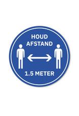 Vloersticker - Binnen - Rond - Houd 1,5m afstand