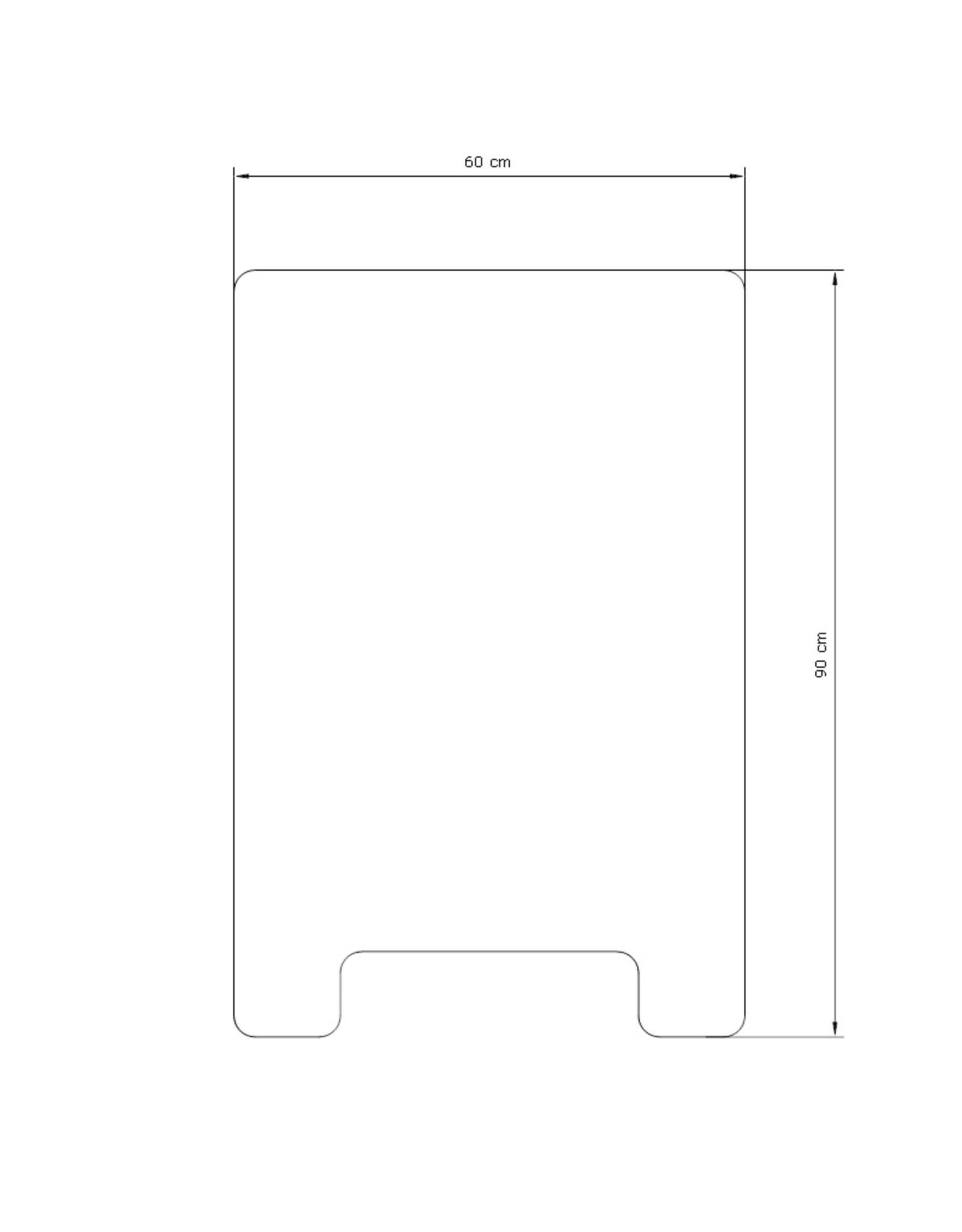 Corona preventie stoepbord (60 x 90cm)