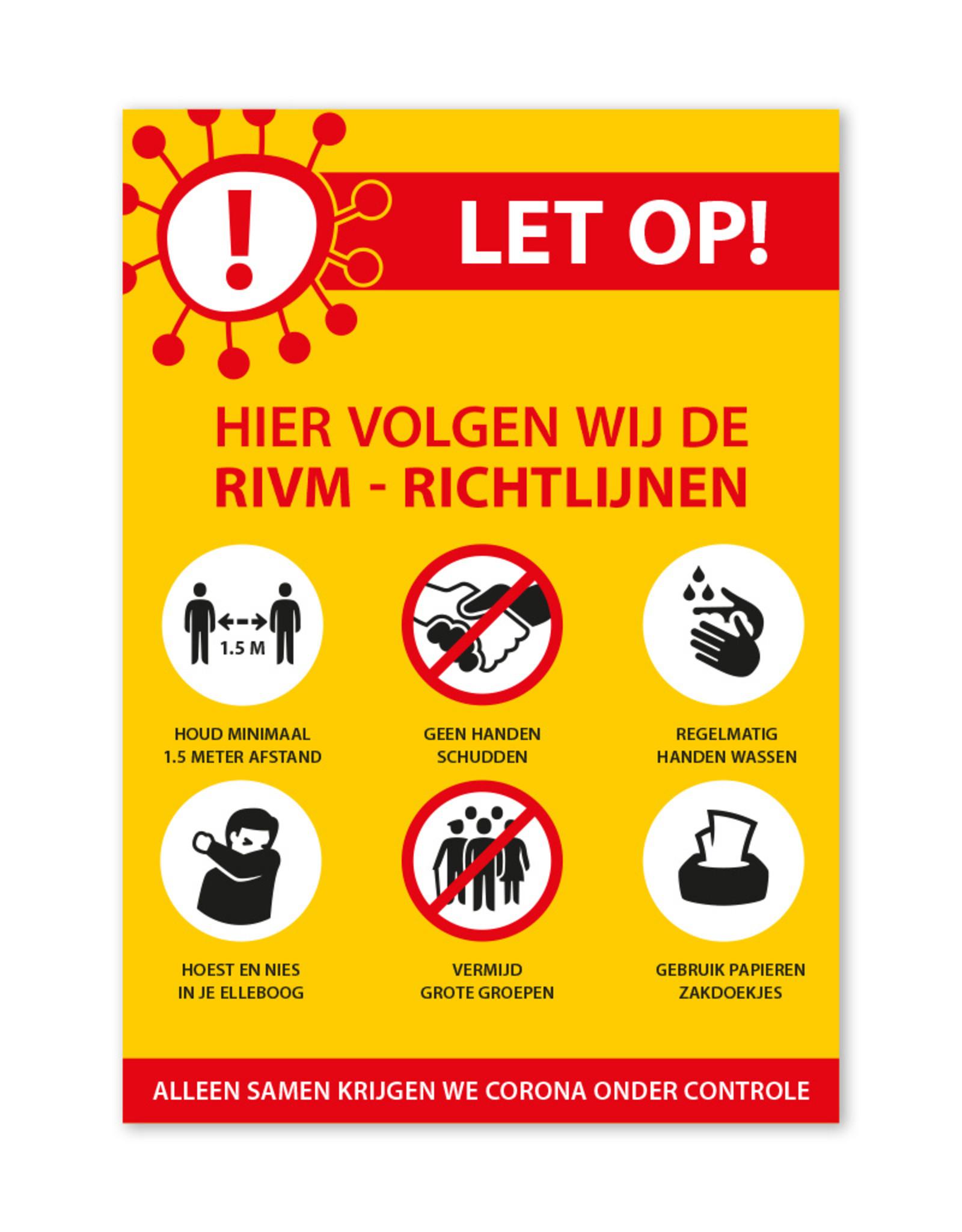 Sticker RIVM - Richtlijnen - Staand model