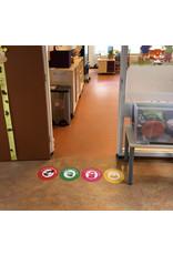 Vloer-stickerset - Corona preventie maatregelen