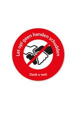 Sticker - geen handen schudden