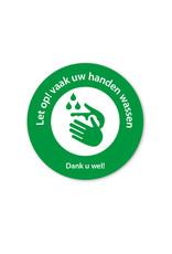 Sticker - handen wassen