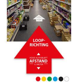 Vloersticker - Binnen - Pijl - Looprichting