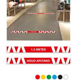 Vloersticker - Binnen - set van 6 Corona preventie vloerlijnen
