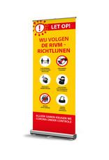 Roll-up banner met RIVM - Richtlijnen