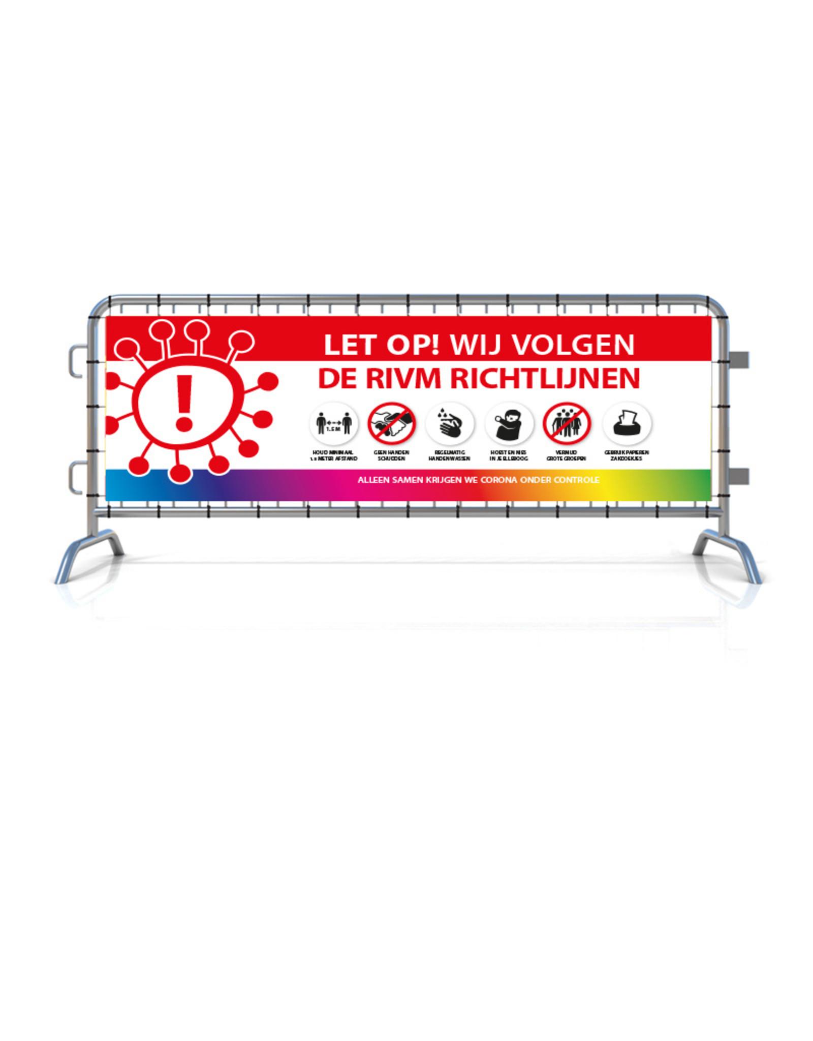 Spandoek RIVM - Richtlijnen (215x71cm) - Wit