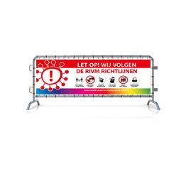 Spandoek RIVM - Richtlijnen (215x71cm)