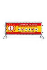 Spandoek RIVM - Richtlijnen (215x71cm) - Geel