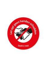 Vloersticker - Binnen - geen handen schudden