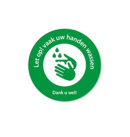 Vloersticker - Binnen - handen wassen