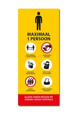 Sticker - Binnen - Geel Lift Maximaal 1 persoon