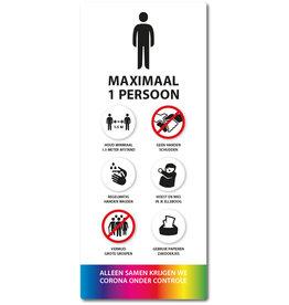 Sticker - Binnen - Wit Lift Maximaal 1 persoon
