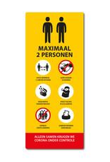 Sticker - Binnen - Geel Lift Maximaal 2 personen