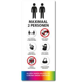 Sticker - Binnen - Wit Lift Maximaal 2 personen
