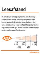 BrouwerSign Pictogram - E006 - Richtingaanwijzing 45° - ISO 7010