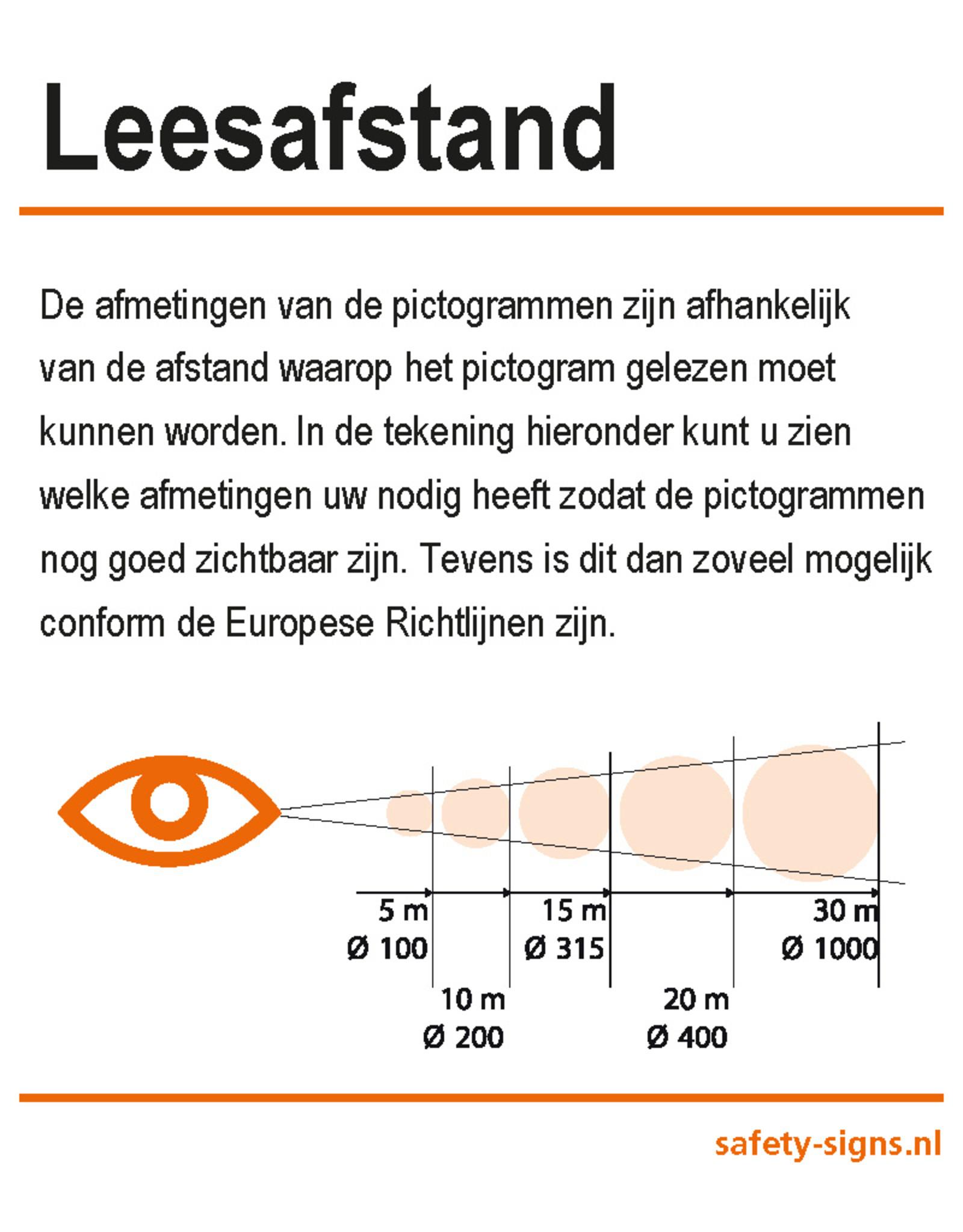 BrouwerSign Pictogram - M018 - Veiligheidsharnas verplicht - ISO 7010